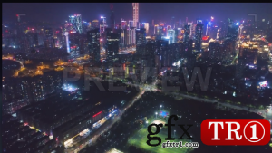 夜晚的深圳灯光秀  899276