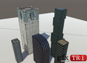3D模型 城市低模 City Low Poly v3.0