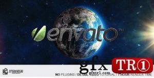 AE模板 太空科技地球三维空间字幕标题 7874206
