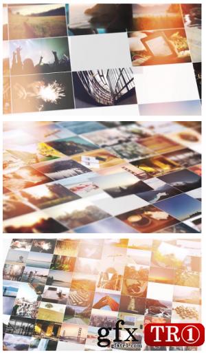 AE模板  企业公司宣传照片logo墙汇聚脚本编辑器 9741549