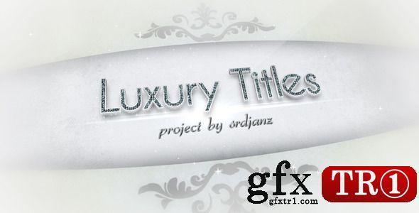 AE模板 奢侈品排名字幕标题 5289180