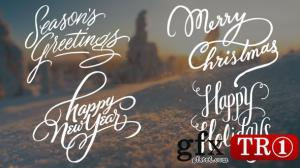 CG天下 AE模板 圣诞节问候书法字幕标题19143358