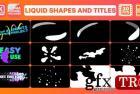 液体形状和标题| AE模板 26918120