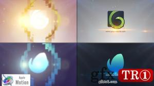 CG天下 Apple Motion 模板 简洁logo标志演绎 22605170