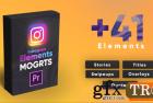 Instagram Elements Pack-MOGRT PR模板 25331110