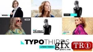 Typothirds - Lower Thirds Pack 25629480 字幕标题包