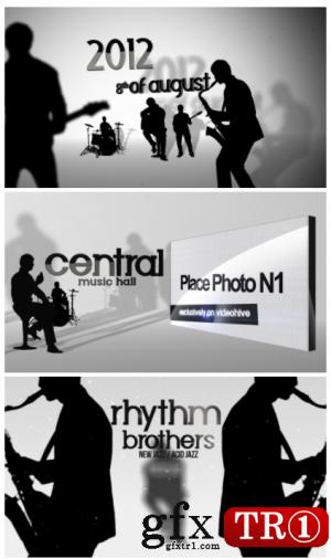 AE模板 三维剪影爵士乐队演出宣传揭幕战  1568988