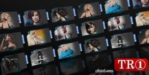 AE模板 圆屏环形幕照片墙视频展示 3249921