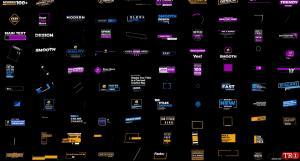 100现代字幕标题包BusyBoxx V05 - 100 Modern Titles