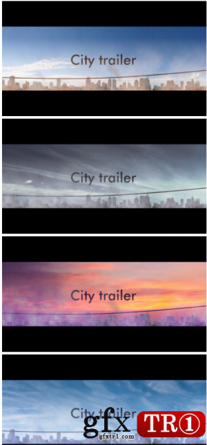 AE模板 扁平化卡通建筑场景城市宣传片开场 2935004