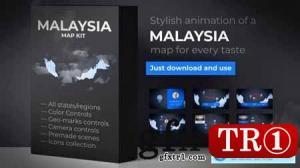 马来西亚地图动画马来西亚地图套件24337258