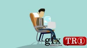 CG天下 AE模板   旅游公司logo标志mg动画演绎 074391110