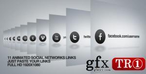 CG天下 AE模板 社交网络logo标志演绎  4659956