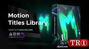 文本动画包Videohive Motion Titles Library - Animated Text Package 33708192