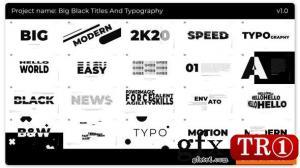 黑色大标题和版式25272115