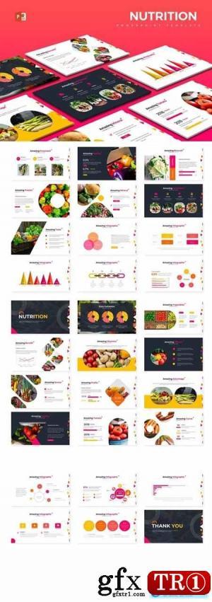 营养搭配Powerpoint,主题演讲和Google幻灯片模板