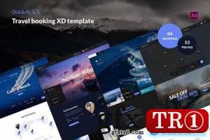 OCEAUS V2-旅行预订XD模板