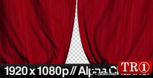 AE模板 红色帘幕闭幕开幕视频素材 161357