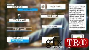 AE模板 简洁电视栏目字幕条包 12277479