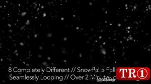 AE模板视频素材 8款雪花飘落视频素材包 148152
