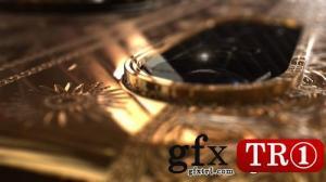 AE模板 手机模型金色logo标志演绎  Phone X Gold Logo 20983667