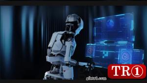 机器人将代码输入安全面板948641