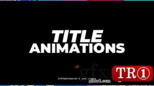 AE模板 字幕标题排版动画包  V2 12794729