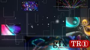 CG天下 AE模板  科技感多媒体屏幕开场   9383194