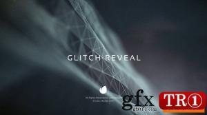 故障粒子空间logo标志演绎Glitch Reveal 12418594