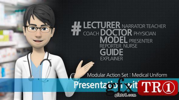 AE模板 三维人物动画解说员医学指导员  16538077