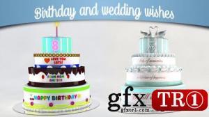 AE模板 生日快乐婚礼庆典许愿蛋糕 12839150
