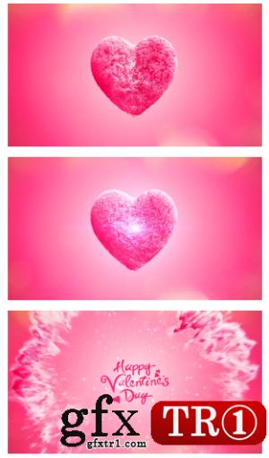 AE模板 浪漫情人节红心绽放字幕标题表白 14575206