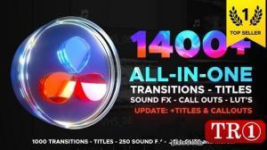 1400+达芬奇转场包 Transitions Library for DaVinci Resolve 29483279