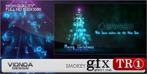 CG天下 AE模板 烟雾粒子树圣诞节问候 9840697