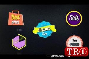 AE模板 促销购物标签动画 Shopping Labels  29630