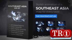 东南亚地图动画东南亚地图套件24333303