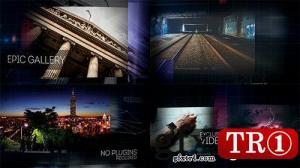 AE模板 史诗动感照片视频画廊图文幻灯片 12218276