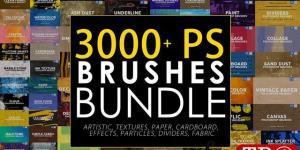 3000+PS笔刷CreativeMarket - Photoshop Stamp Brushes Bundle ABR