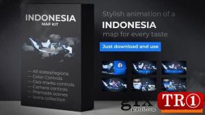 印度尼西亚地图-印度尼西亚共和国地图套件24743374