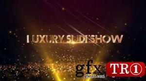 CG天下 AE模板 金色颁奖典礼图文幻灯片开场  Luxury Slideshow  150047