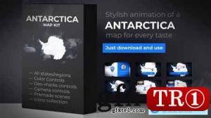 南极洲地图与领土南极洲地图套件24363085