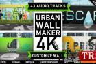 城市墙涂鸦街艺术logo标志展示Urban Wall Kit | Graffiti Street Art 23526994-AE模板下载CG天下
