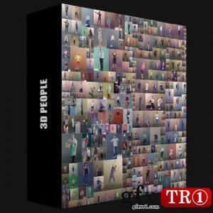 3D PEOPLE – Cinema 4D 的 Mega Collection 458人模型包合集