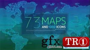 73个地图和地理图标25256342