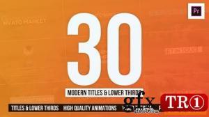 30个现代称谓字幕条Mogrt  PR模板 25557447