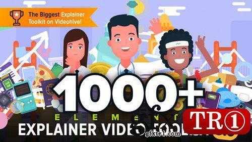 AE模板 壹读飞碟说mg动画1000+卡通扁平化角色演说解说员视频演绎工具包V3 18812448