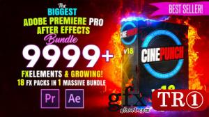 CINEPUNCH-过渡I颜色LUT I Pro音效FX I 9999+ VFX元素合集V18 20601772