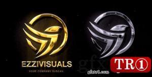 CG天下 AE模板  质感金银logo标志演绎 V2 20737866