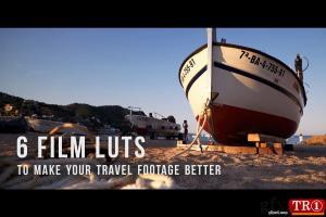 6款旅行视频电影LUT调色预设  6 Film LUTs for travel video